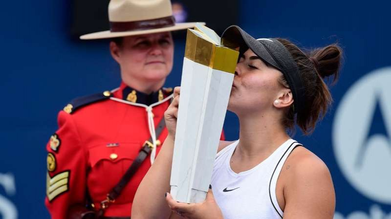 Canada's Bianca Andreescu wins Rogers Cup title as Serena Williams withdraws