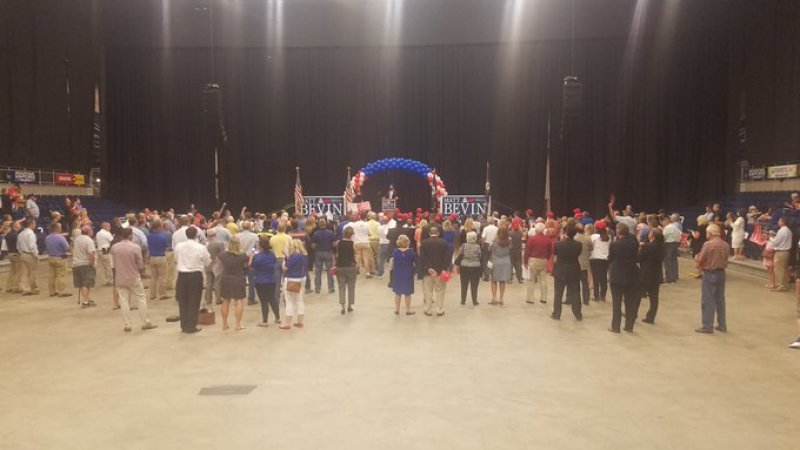 World's 'Saddest' Rally? Don Jr. Mocked For Speaking To Mostly Empty Arena