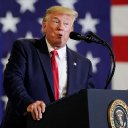 Trump news - live: President's approval rating slides further, amid scaremongering about migrants and hurricane victims in wild rally speech