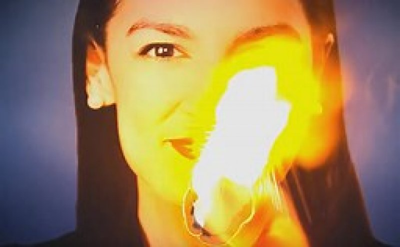 Why on Earth Did an Ad Showing AOC's Face Burning Air During the Debate?