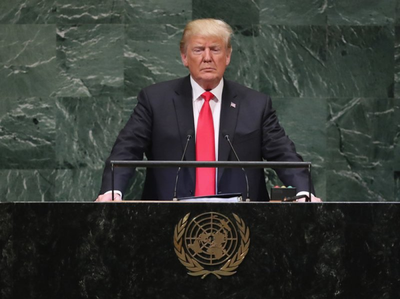 Trump Sleepwalks Through Speech To U.N.