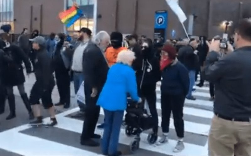 Antifa Harass Elderly Couple, Refuse To Let Them Cross The Street