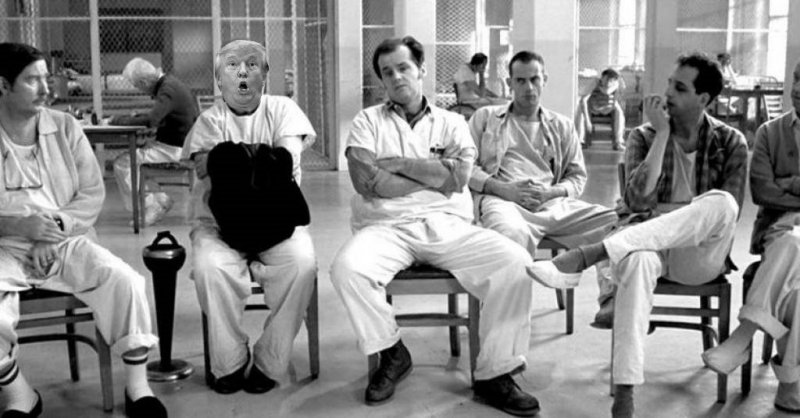 """Breaking News : President**** Trump Taken For """"Vacation"""" At The Sunny Nix Institute For The Politically Insane After Epic F&F Rant"""