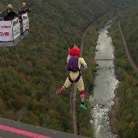 Daredevils jump 800+ feet on West Virginia 'holiday'