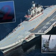 "Fire Breaks Out On Russian ""Admiral Kuznetsov"" Aircraft Carrier at the Barents Sea port of Murmansk."