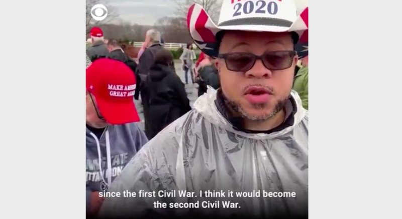 Trump Rallygoer From Viral Video Who Warned of 'Second Civil War' Is Actually an InfoWars Host