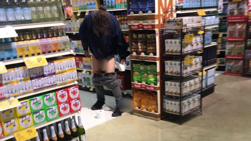 Man caught pooping in aisle of San Francisco Safeway
