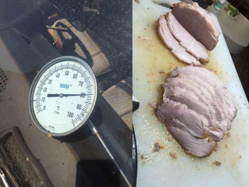 Slow-cooker car: Man roasts pork in Datsun during Australian heatwave
