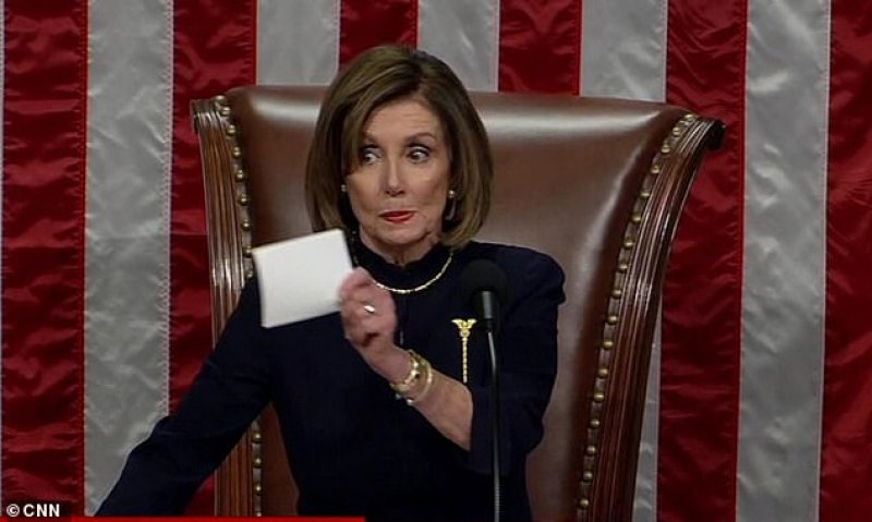 Nancy Pelosi SILENCES cheering Democrats after ordering them not to celebrate Trump's impeachment