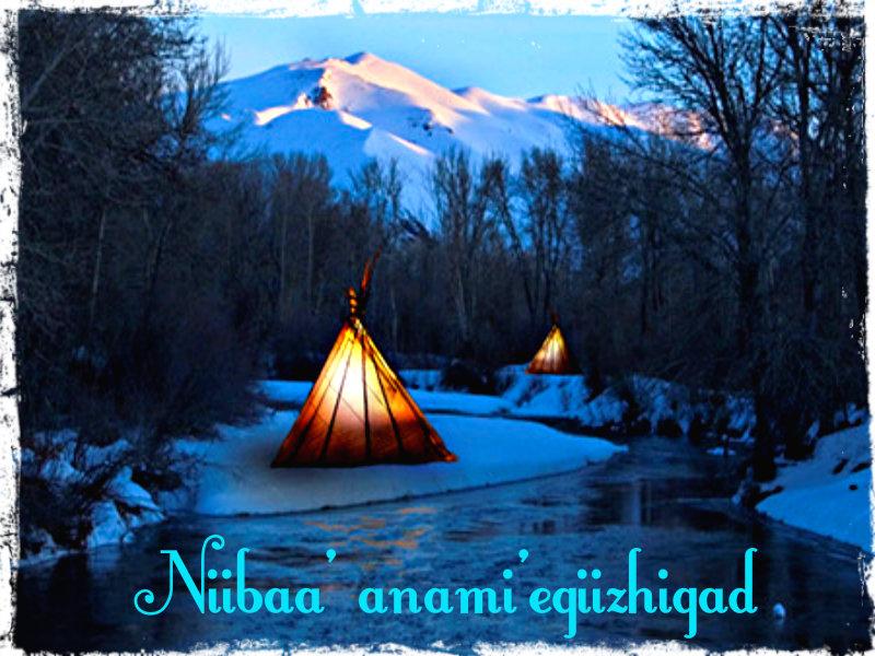 Niibaa' anami'egiizhigad (Merry Christmas)