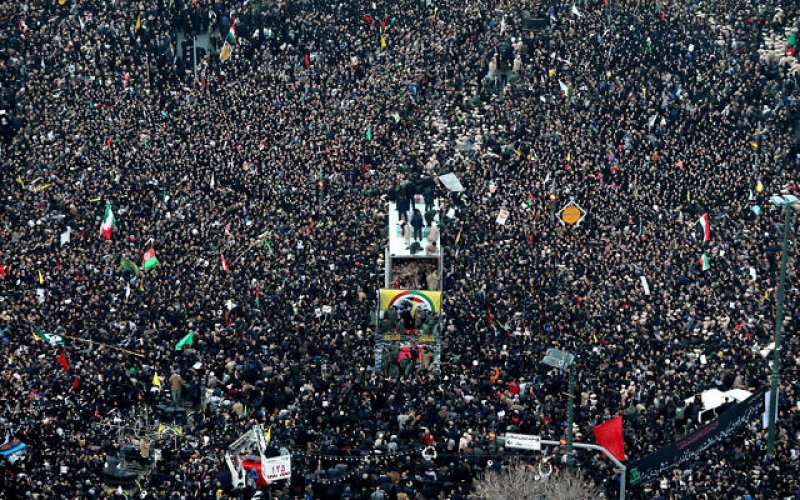Iran cancels Soleimani ceremony in Tehran after massive turnout in second city