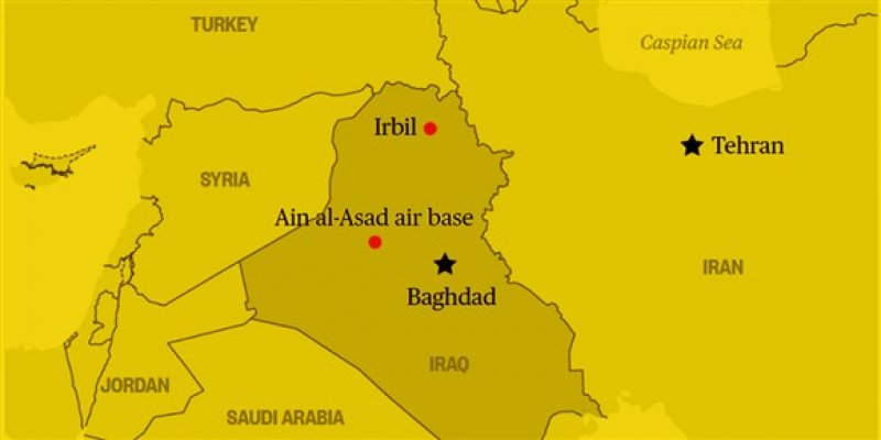 Iran retaliates for attack on general by firing missiles at U.S. forces in Iraq