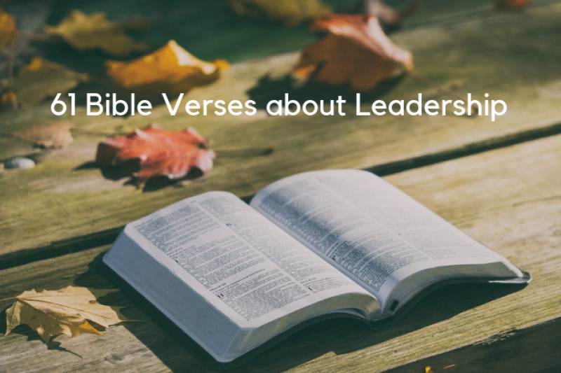 61 Bible Verses About Leadership