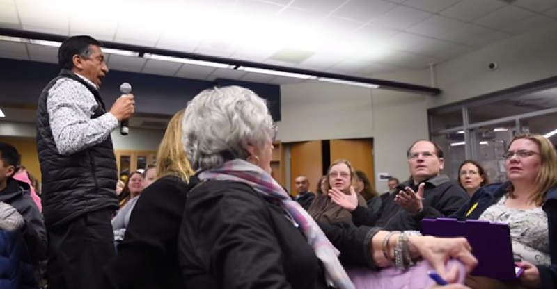 Michigan parent meeting about discrimination interrupted: 'Then why didn't you stay in Mexico?'