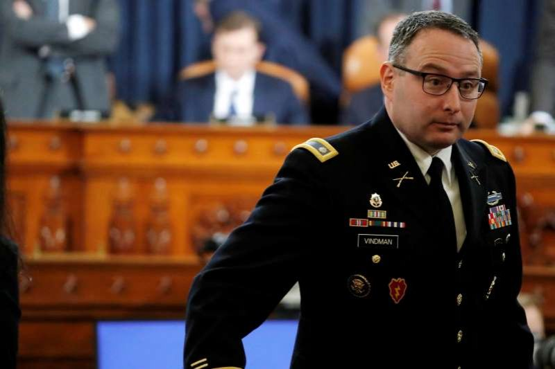 Trump says military may consider discipline for ousted aide Vindman