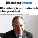 Bloomberg Editorial Board Endorses Mike Bloomberg