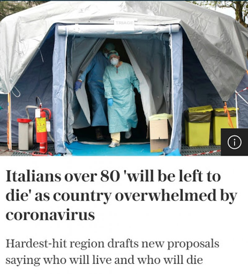 Italians over 80 'will be left to die' as country overwhelmed by coronavirus