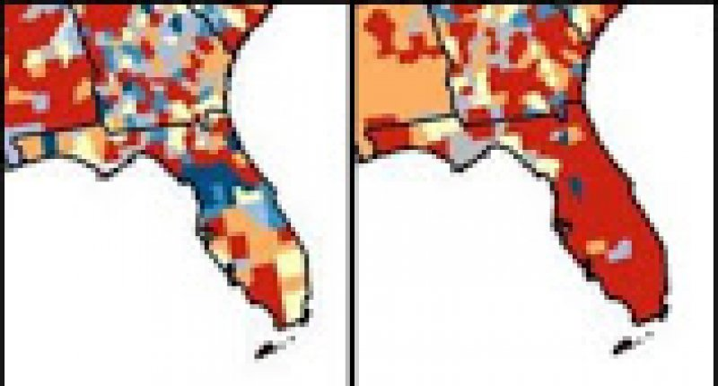 CDC maps show Florida's deepening coronavirus crisis, as state shatters daily case record