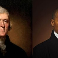 Image of Thomas Jefferson alongside Black descendant holds 'a mirror' to America