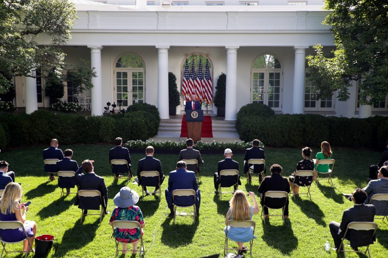 Trump Lies To Reporters And Stages A Fake Press Conference So He Can Have An Audience