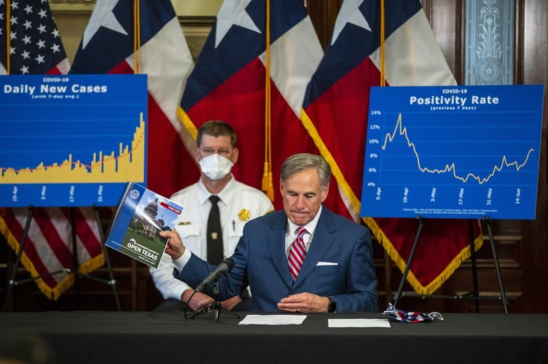 Governors who quickly reopened backpedal as virus surges (06/26/20)
