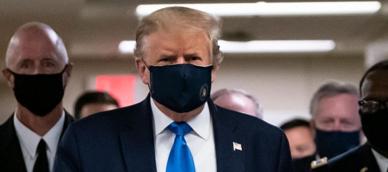 Trump tweets photo of himself in a mask for the first time