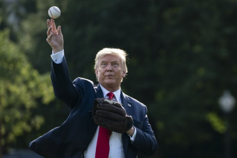 President Donald Trump says he won't be able to throw first pitch at Yankees-Red Sox game