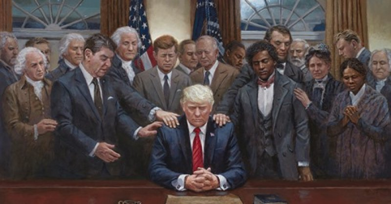 New Painting by Trump Cultist Has the Internet Roaring with Laughter