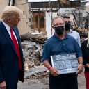 A Kenosha man says the Trump-supporting 'owner' of a destroyed business in a photo op was actually his predecessor who sold the shop 8 years ago