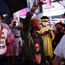 Video shows car plowing through protesters in Times Square