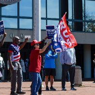 Trump Supporters Disrupt Early Voting in Virginia