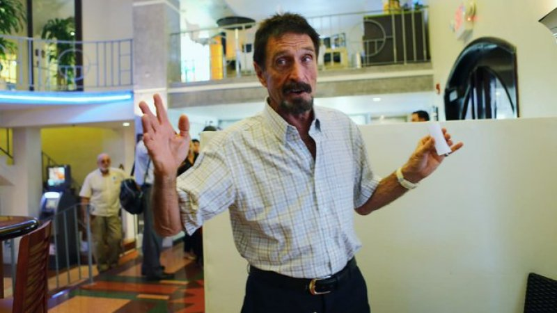 Famed Libertarian John McAfee Indicted For Tax Evasion