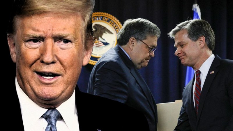 Trump, still fighting last election, rips Barr and Pompeo for not pursuing Clinton hard enough