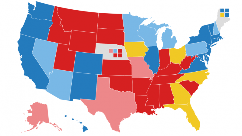NPR Electoral Map: Biden Expands Lead Over Trump In Swing States : NPR