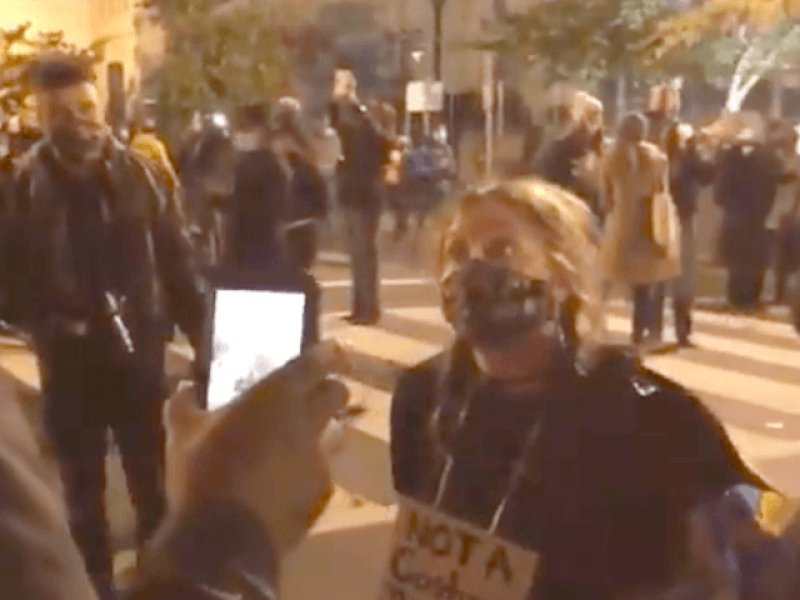 Watch: DC Protester Says She Will 'Wipe Bloody P*ssy' with Bible