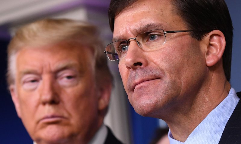 Mark Esper fired as Pentagon chief after contradicting Trump