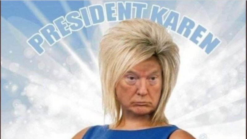 """President Trump gets trolled as """"White House Karen"""" on social media after refusing to concede to Joe Biden 
