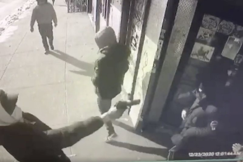 Shocking video shows moment teen was shot dead outside NYC deli