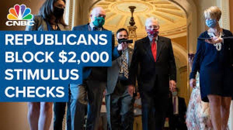 GOP blocks House Democrats' attempt to pass $2,000 stimulus checks