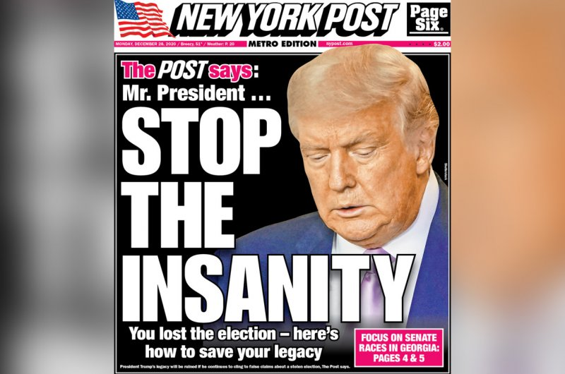 """The NY Post says: """"STOP THE INSANITY. Give it up, Mr. President, for your sake and the nation's"""""""