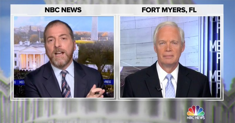 Chuck Todd Goes Off on Ron Johnson Joining Election Gambit