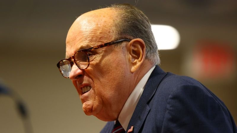 Rudy Giuliani accidentally leaves voicemail for wrong senator while trying to slow vote certification