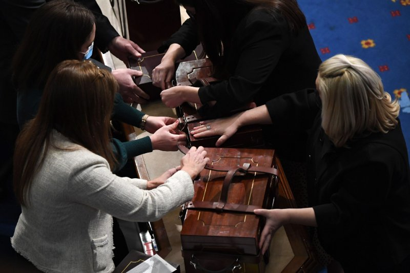 The women who saved the boxes of electoral college votes during a riot in the Capitol