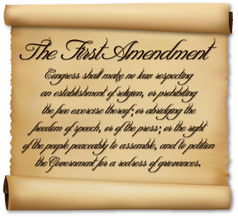 Who does the First Amendment protect?