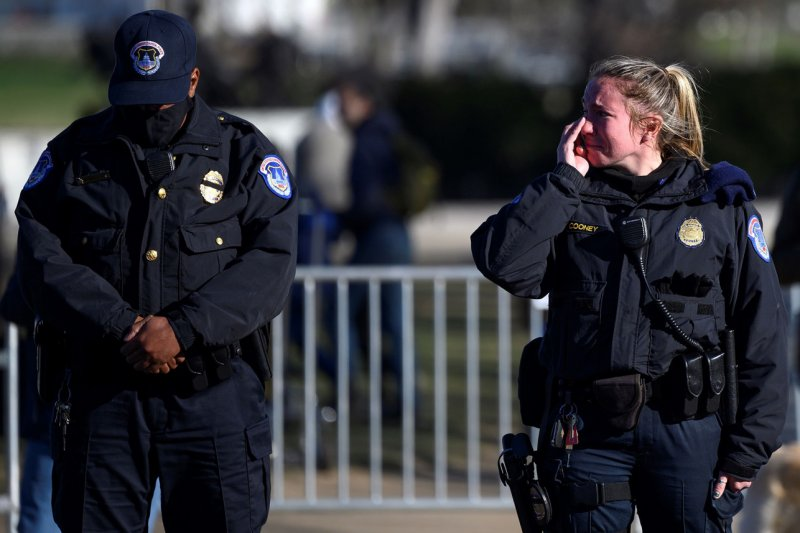 Cops line DC street to salute Officer Brian Sicknick murdered in Capitol riot