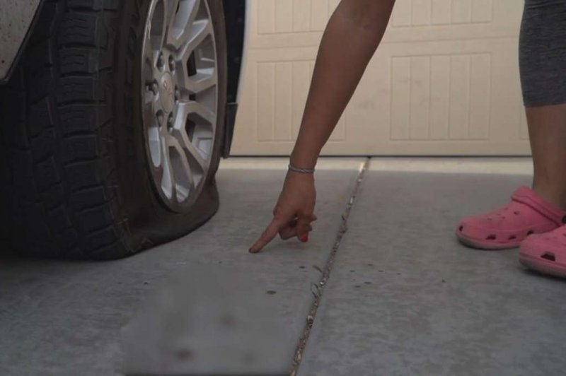 Tire slasher leaves severed finger behind on woman's driveway
