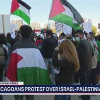 Thousands March Through Downtown Chicago Streets In Support Of Palestinians