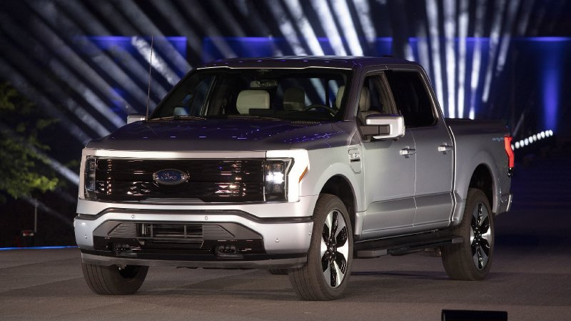 Ford Unveils F-150 Lightning With A Price Starting Under $40,000 : NPR