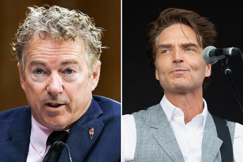 Rand Paul blamed pop star Richard Marx for threatening package. Marx's reply was right there waiting for Stephen Colbert.