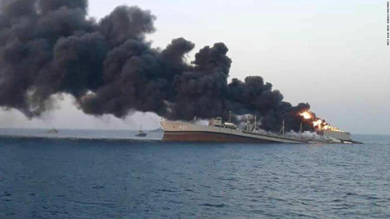 Iran navy ship, the 'Khark,' sinks after fire on board - CNN